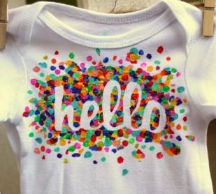Knop Babyshower workshop rompers versieren