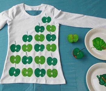 Knop workshop tshirt versieren